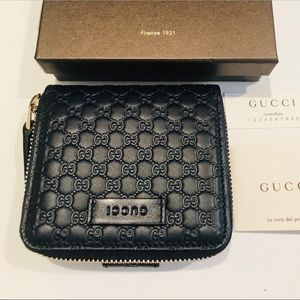 Brand New Gucci Black Microguccissima Wallet